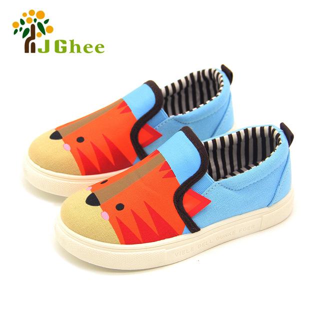 Kids Shoes Boys Girls Cartoon Design Canvas Children Sneakers Casual