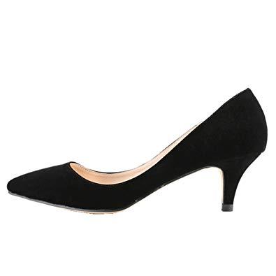 Amazon.com | SAMSAY Women's Slender Kitten Heels Pointed Toe Pumps