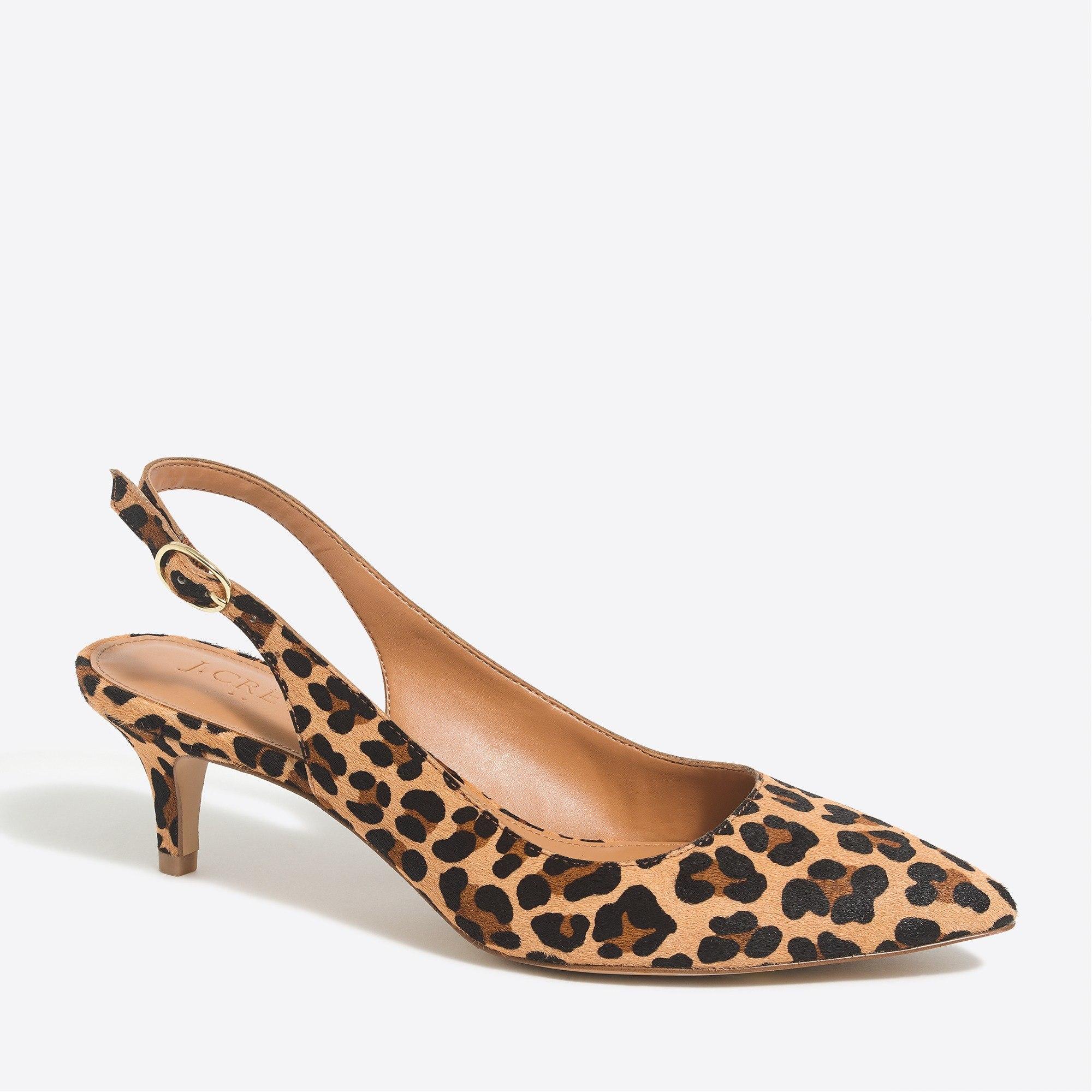 Esme calf hair slingback kitten heels : FactoryWomen Heels   Factory