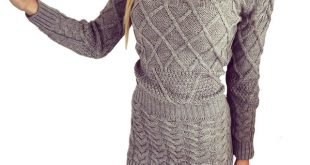 Rugod New Patterned Women Sweater Dresses 2018 Winter Knitted Dress