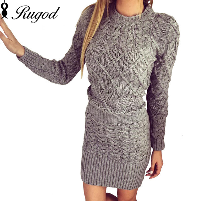 Trendy and warm knitted dress for women