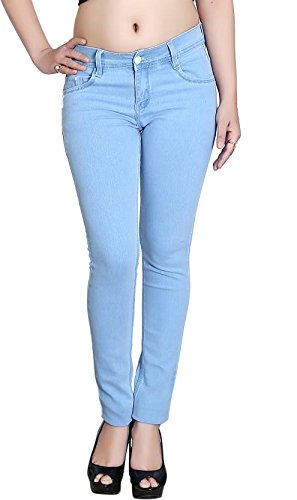 RamE Ladies Women's Blue colour Slim-fit Stretchable Jean at