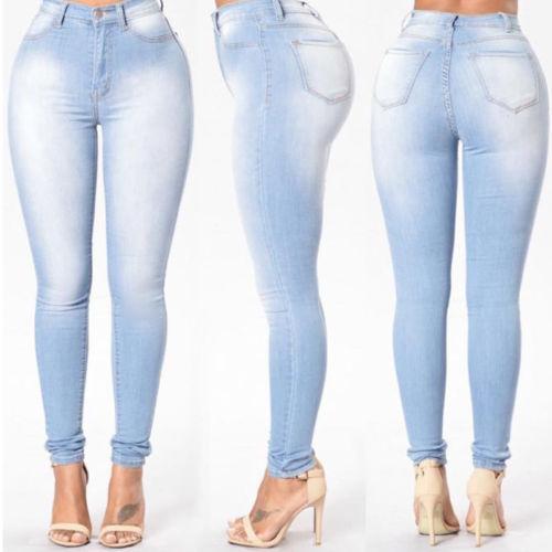 Women Jeans Pants High Waist Jeans Women Ladies Jeans Pencil Stretch