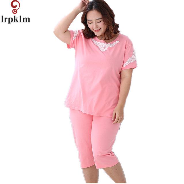 Ladies Pyjamas Spring And Autumn Short Sleeve Sleepwear Cotton