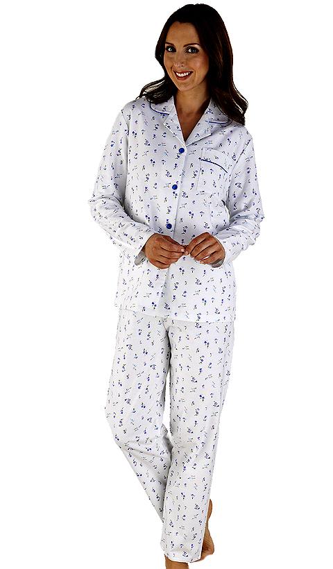Slenderella 100% Cotton Floral Ladies Pyjama - Suzanne Charles