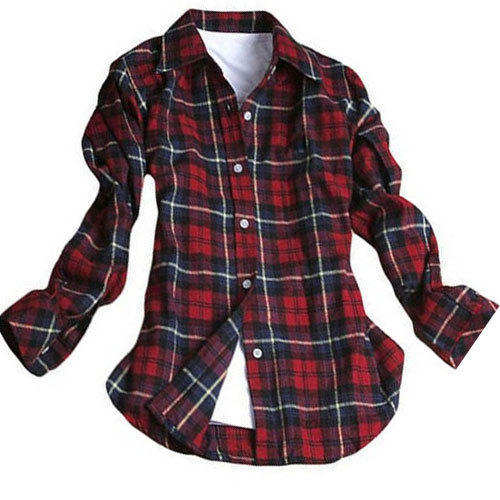 Black And Red Cotton Ladies Casual Shirt, Rs 475 /piece, Stark