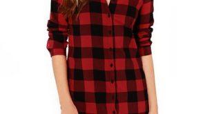 Women Cotton Plaid Shirt Long Sleeve Irregular 5XL Plus Size Ladies