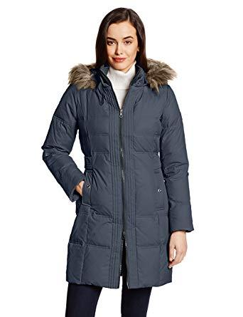Amazon.com: Larry Levine Women's Hooded Three-Quarter Length Down