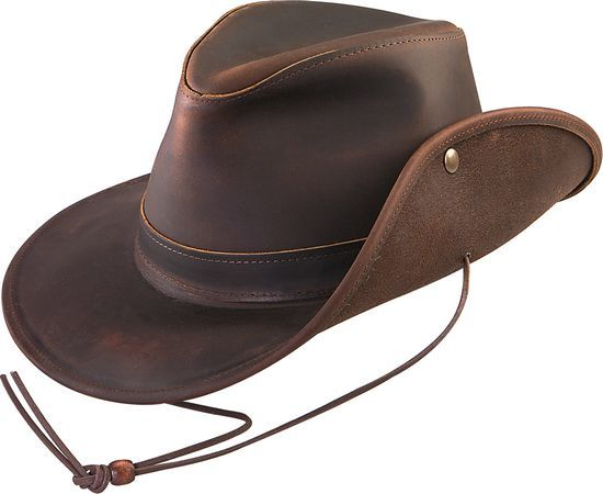 Henschel | Aussie Leather Safari Hat | Hats Unlimited