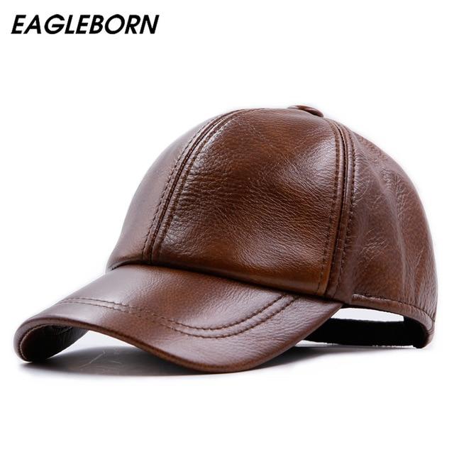 Fashion Design Leather Hat Man Baseball Cap Women Hats Keep Warm