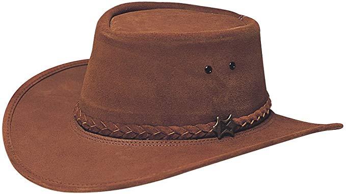 Conner Hats Men's Stockman Suede Australian Leather Hat at Amazon