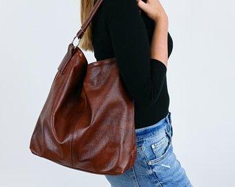 Leather hobo bag | Etsy