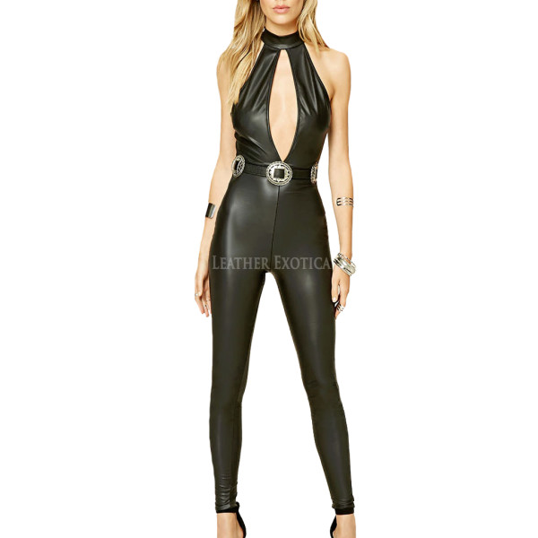Newly Arrived Sexy Style Leather Jumpsuits