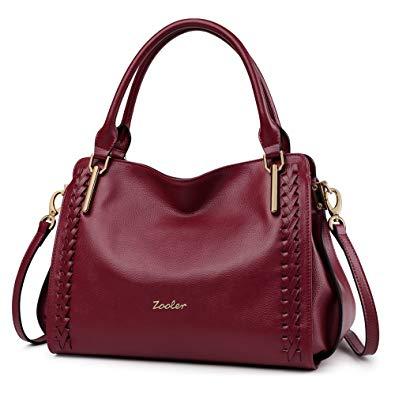 Amazon.com: ZOOLER Leather Purses and Handbags for Women Shoulder
