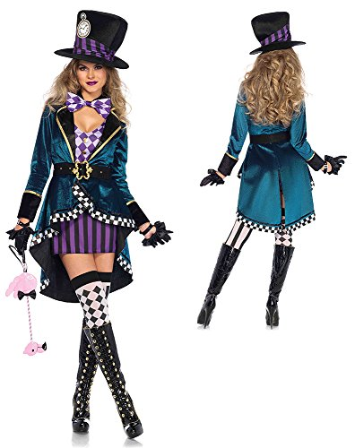 Leg Avenue Women's Delightful Hatter Costume - Alice-in-Wonderland