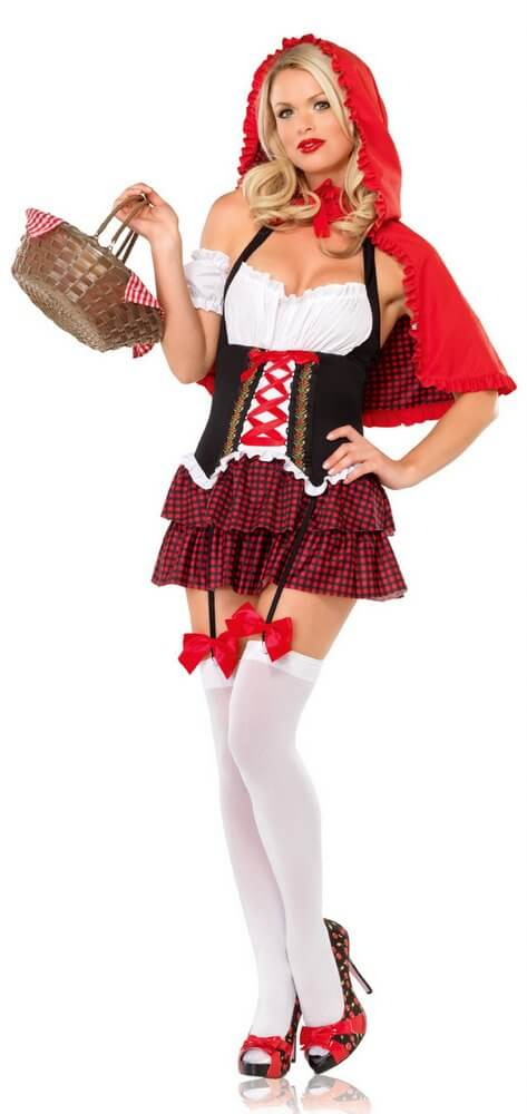 Leg Avenue Ravishing Red Riding Hood Adult Costume - Candy Apple