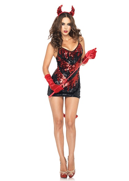 83943 Leg Avenue Costumes, Demon Darling, includes stretch sequin