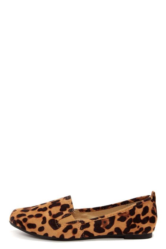 Cute Leopard Shoes - Loafer Flats - Leopard Flats - $21.00