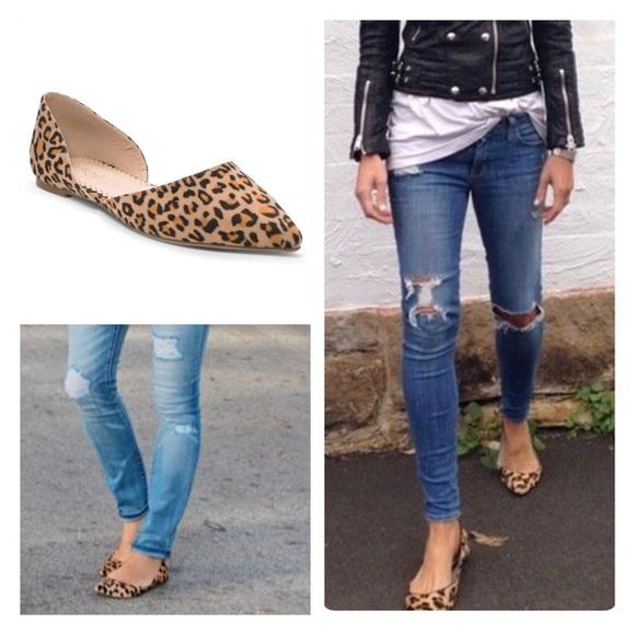 Shoes | Vegan Suede Leopard Flats Red Flats Black Flats | Poshmark