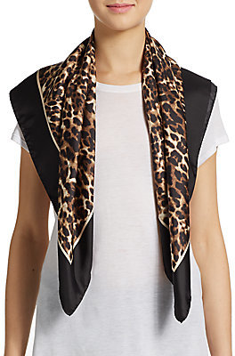 Valentino Leopard Print Silk Scarf, $275 | Off 5th | Lookastic.com