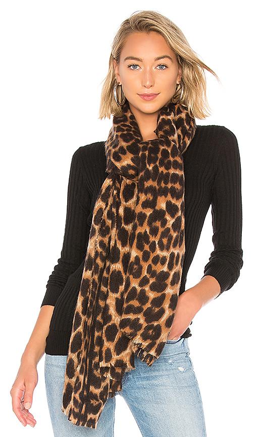 Hat Attack Leopard Scarf in Leopard | REVOLVE