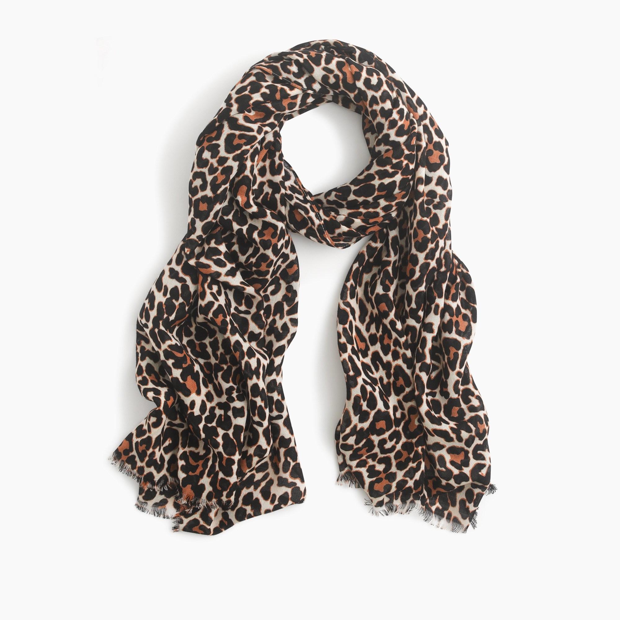 Leopard scarf : Women scarves, hats & gloves | J.Crew