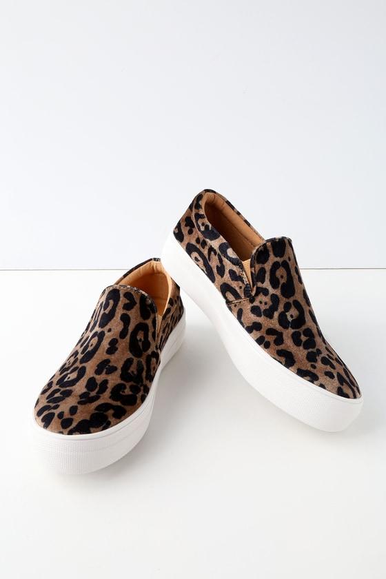 Steve Madden Gills - Leopard Print Sneakers - Slip-On Shoes