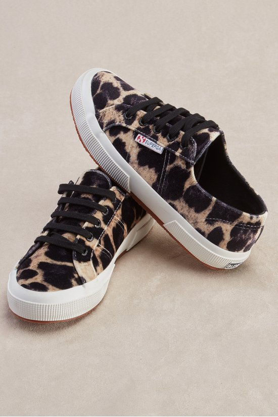 Superga Leopard Sneakers - Velvet Sneakers   Soft Surroundings