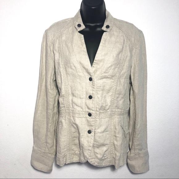 Coldwater Creek Jackets & Coats   Sz 12 Linen Jacket Snap Buttons