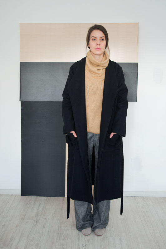 Long Black Wool Coat Alinda   ATTITUDE157 Get ready for the winter