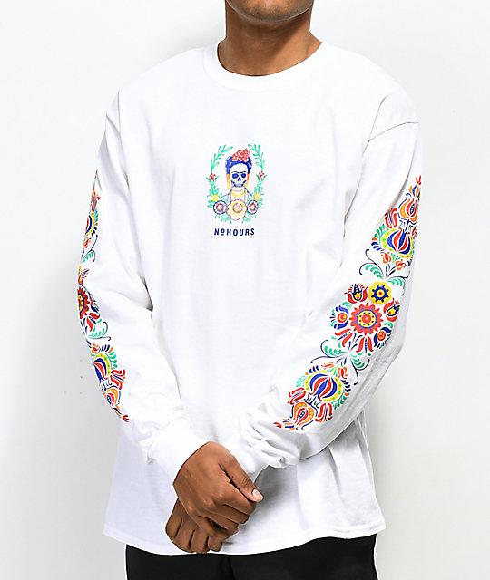N°Hours Sleep White Long Sleeve T-Shirt | Zumiez