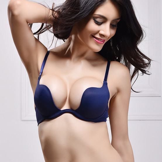 ABCD Big Cup Deep U Low Cut Backless Invisible Convertible Bra That