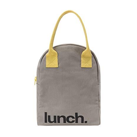 Amazon.com: Fluf Zipper Lunch Bag, Organic Cotton (Grey 'lunch