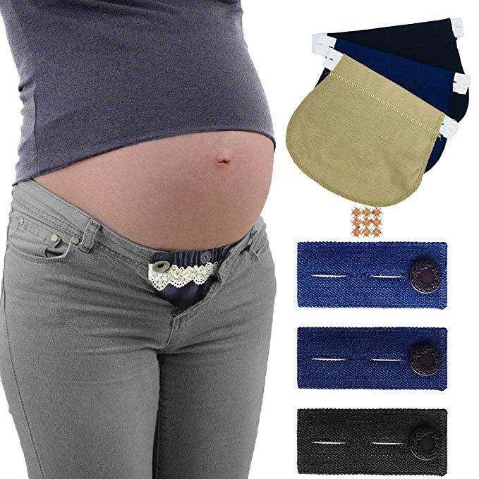 Belly Belt Combo Maternity Belly Band Adjustable Elastic Pants