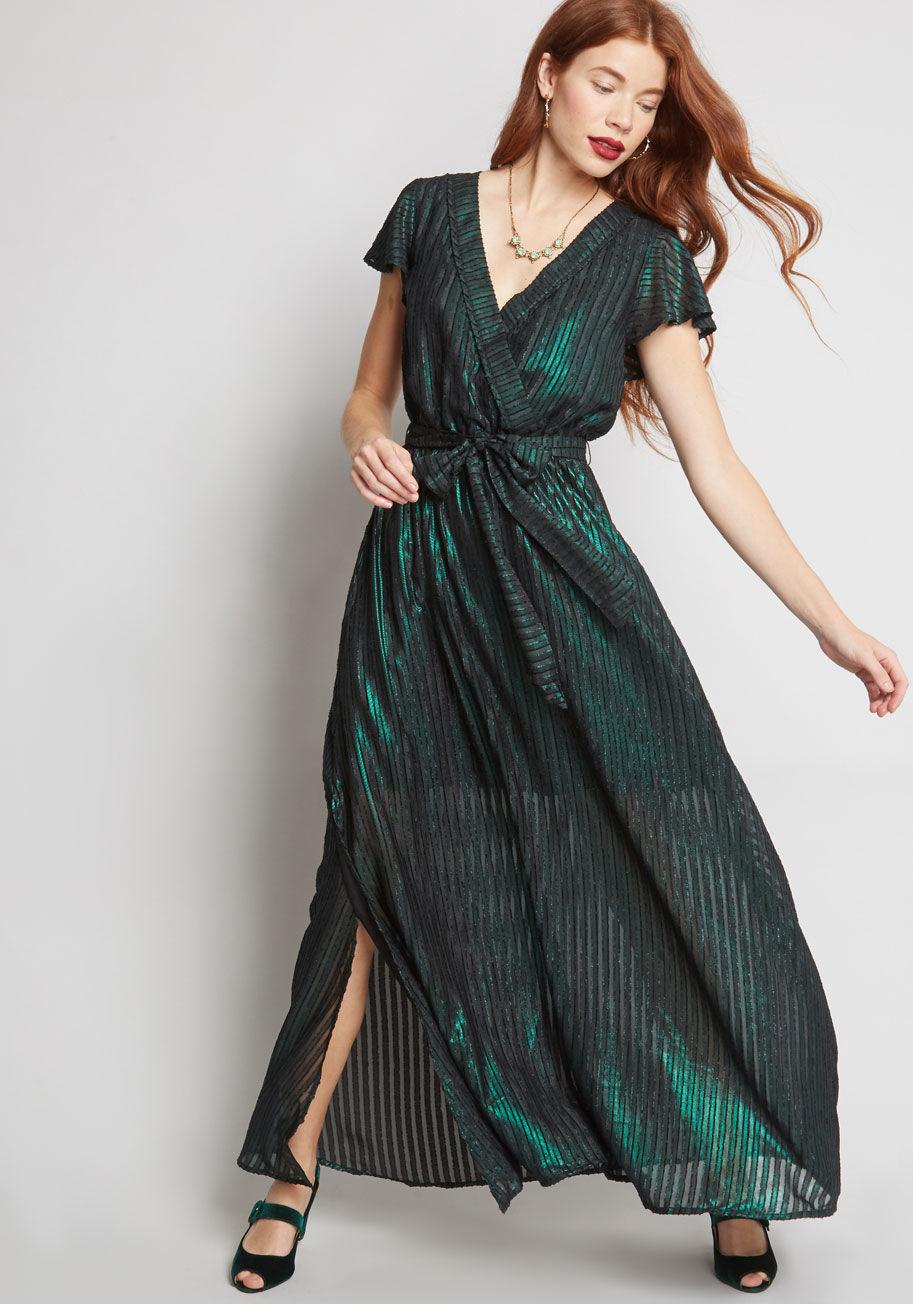ModCloth Your Time to Shine Maxi Dress Green | ModCloth