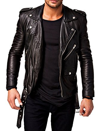 Best Seller Leather Men's Leather Jacket at Amazon Men's Clothing store: