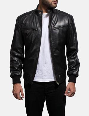 Stylish and trendy men leather jacket