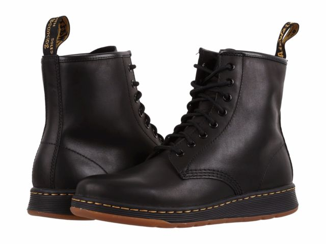 Dr. Martens Newton 8 Eye Boot Mens Black Leather Casual Lace up