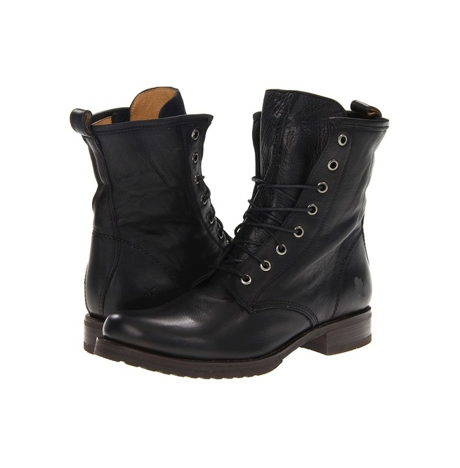 Handmade Men Black Combat Boots, Men Military Boot, | RebelsMarket