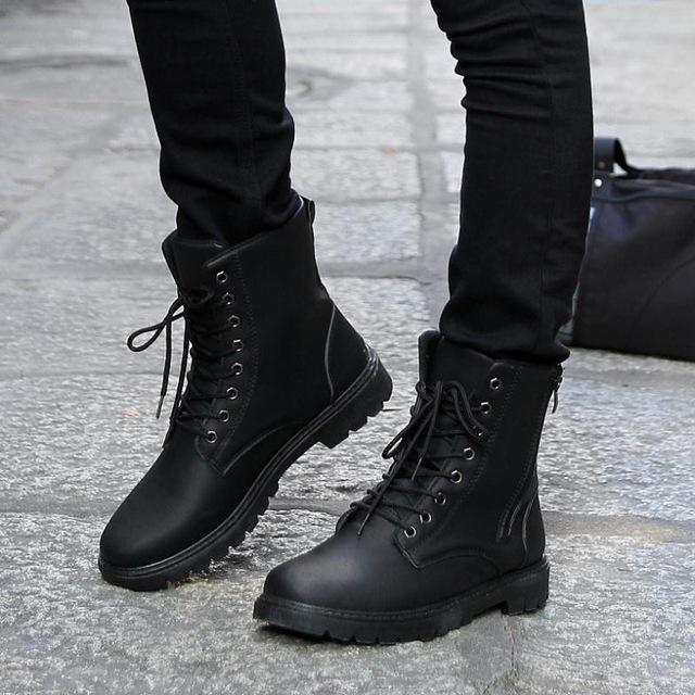 Free Shipping Retro Combat Boots Men Fashion boots Winter England