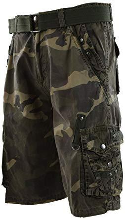 Mens Premium Cargo Shorts with Belt (8 Pockets 32-44 Size) | Amazon.com