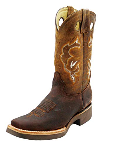 Amazon.com | Dona Michi Men Cowboy Genuine Cowhide Leather Square
