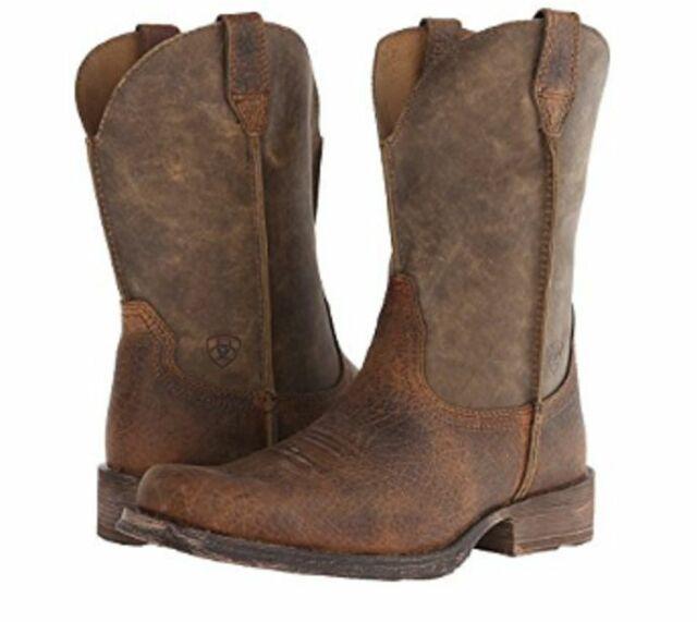 Ariat Western BOOTS Mens Rambler Cowboy 14 D Earth Brown 10002317