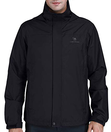 Amazon.com: CAMEL CROWN Mens Waterproof Jacket Hooded Windbreaker