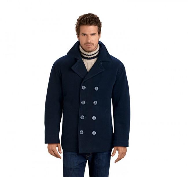 LeatherCoatsEtc Mens Wool Pea Coat