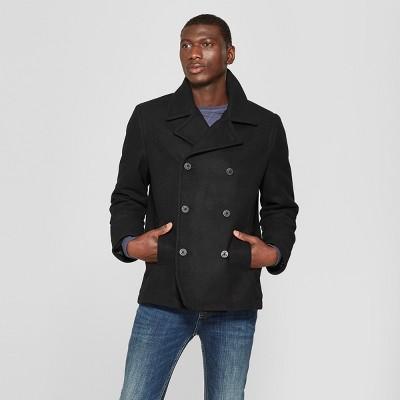 Men's Wool Pea Coat - Goodfellow & Co™ Black : Target