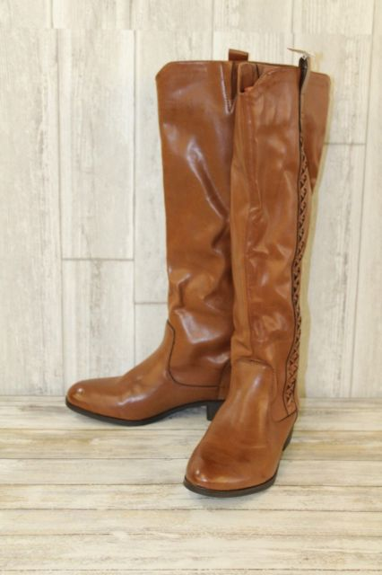 MIA Coaster Faux Leather Riding BOOTS Women's - Size 8 M Brown for
