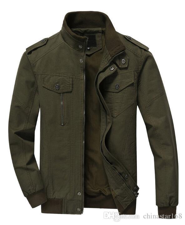 TACVASEN Military Jacket Men Winter Cotton Jacket Coat Army Men'S