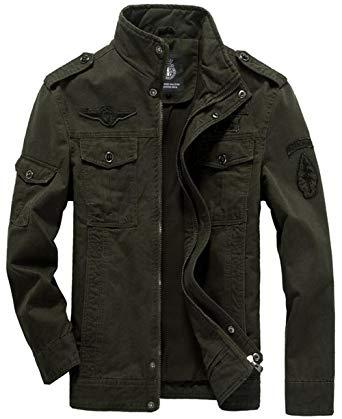 Amazon.com: JEWOSOR Men's Military Style Air Force Jacket Military