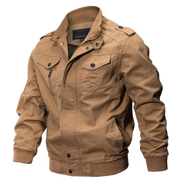 Military Jacket Men Spring Cotton Pilot Jacket Coat Army Men's